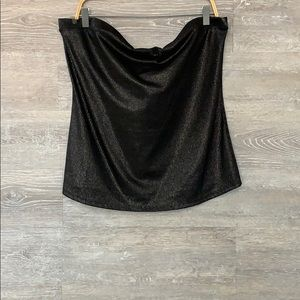 Tops - Plus size strapless top